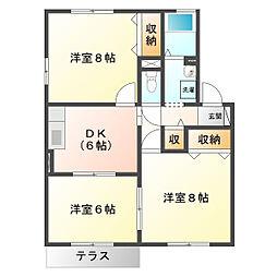 COMODO楠 A[1階]の間取り
