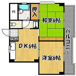 ホワイトスワン明石[4階]の間取り