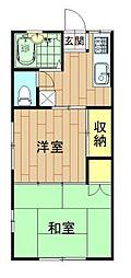 神奈川県川崎市中原区今井仲町の賃貸アパートの間取り