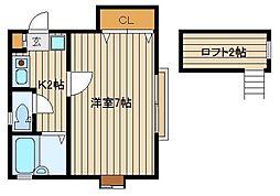 ハウスユングラン[2階]の間取り