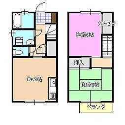 [テラスハウス] 神奈川県高座郡寒川町一之宮2丁目 の賃貸【/】の間取り