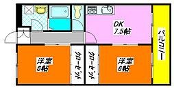 サウス・ワード 203号室[2階]の間取り