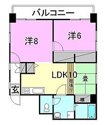 福岡ビル[402 号室号室]の間取り