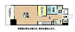 福岡県北九州市小倉北区重住3丁目の賃貸マンションの間取り