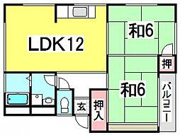 第2ビューハイツ[4階]の間取り