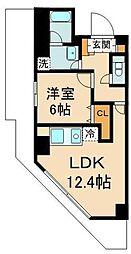 東京メトロ有楽町線 豊洲駅 徒歩9分の賃貸マンション 4階1LDKの間取り