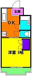 静岡県浜松市中区葵西5丁目の賃貸マンションの間取り