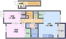 クレールコート3[2階]の間取り
