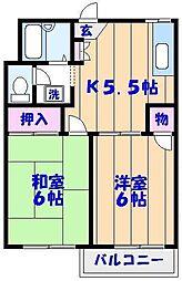 パークハイム21[1階]の間取り