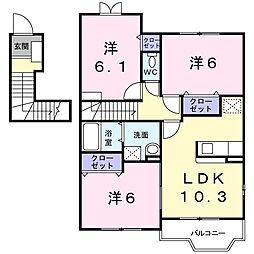 カ−サ五番館[2階]の間取り