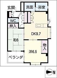 シンシア高松[4階]の間取り
