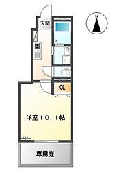 福岡県久留米市東合川町の賃貸アパートの間取り