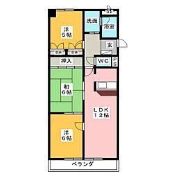 ピボットマンション八幡[4階]の間取り