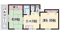 ドルフェスマツバヤシⅡ[4階]の間取り