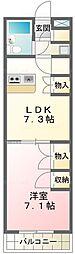 ユタカローズガーデンA12番館[415号室]の間取り