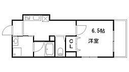 JR東海道・山陽本線 神戸駅 徒歩11分の賃貸マンション 2階1Kの間取り