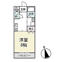 ハピネスビレッジS&K 1階[103号室]の間取り