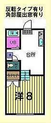 第三稲荷山ハイツ[1−E号室]の間取り