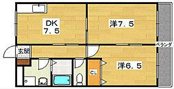 メゾン・ルミエール[2階]の間取り