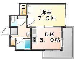 広島県福山市南蔵王町6丁目の賃貸マンションの間取り