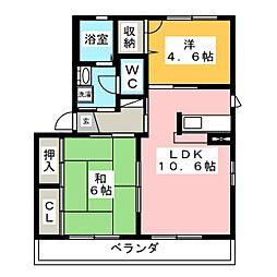 エトワール本野 G棟[1階]の間取り