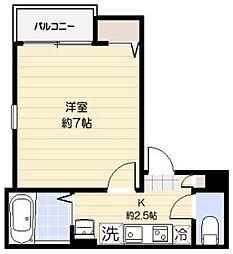 東京都北区西ケ原3丁目の賃貸アパートの間取り