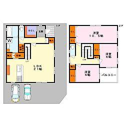 [一戸建] 滋賀県草津市東矢倉3丁目 の賃貸【/】の間取り