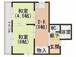 大宝 永和マンション[2階]の間取り