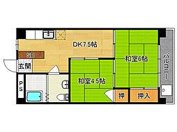 嵯峨野マンション[303号室]の間取り