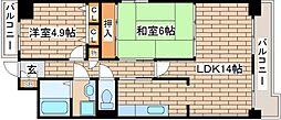 兵庫県神戸市中央区生田町3丁目の賃貸マンションの間取り