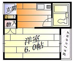 ビスタ千里丘3[3階]の間取り