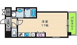 Front Field 天王寺 11階ワンルームの間取り