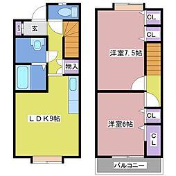 [テラスハウス] 兵庫県神戸市西区竜が岡4丁目 の賃貸【/】の間取り