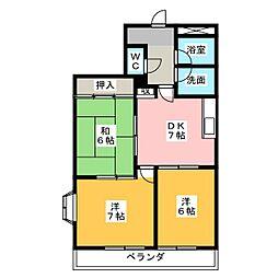 コンバーション片岡[1階]の間取り
