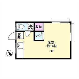 島田荘[3号室]の間取り