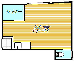 東京都目黒区大岡山2丁目の賃貸アパートの間取り