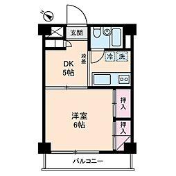 成城ロイヤルマンション[4階]の間取り