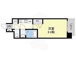 名古屋市営鶴舞線 大須観音駅 徒歩4分の賃貸マンション 2階1Kの間取り