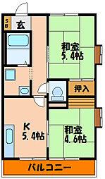 サンハイム太寺[1階]の間取り