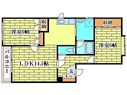 プレステージM91[3階]の間取り