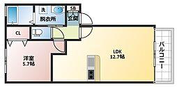N-VILLAGEゆなみ[2階]の間取り
