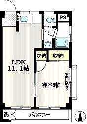アパートメント・エム[301号室]の間取り