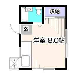 東京都西東京市東町5丁目の賃貸アパートの間取り
