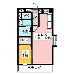 ラ・ホヤ・ハナクマ[2階]の間取り