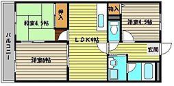 兵庫県神戸市東灘区魚崎北町3丁目の賃貸マンションの間取り