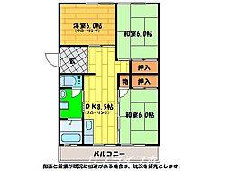 名田橋ハイツ[1階]の間取り