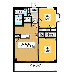 シャンテクレア[3階]の間取り