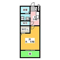 セジュール望A[1階]の間取り