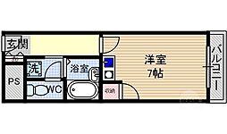 エムロード茨木[3階]の間取り