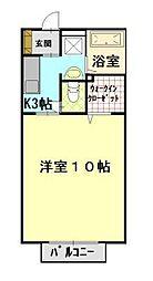 ウェル上加茂[1階]の間取り